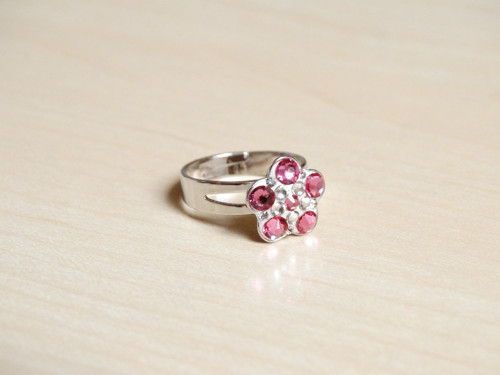 Dětský prstýnek Růžová kytička