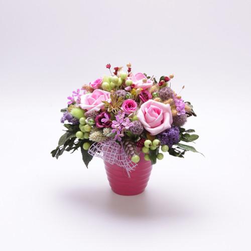 Růžová s perličkama