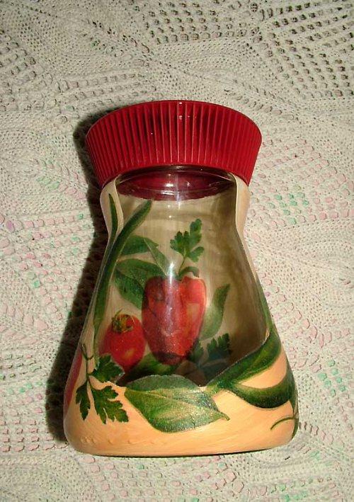 Malovaná sklenice - zeleninová (petrželová)