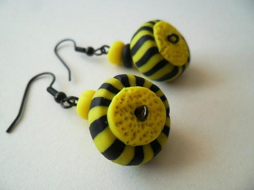 Žluto-černé bonbónové