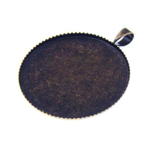 Starobronzové kruhové lůžko 25 mm, 1 ks