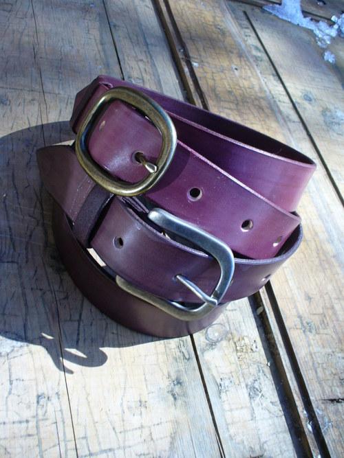 handmade-KERTAG®  kožený opasek COLOR