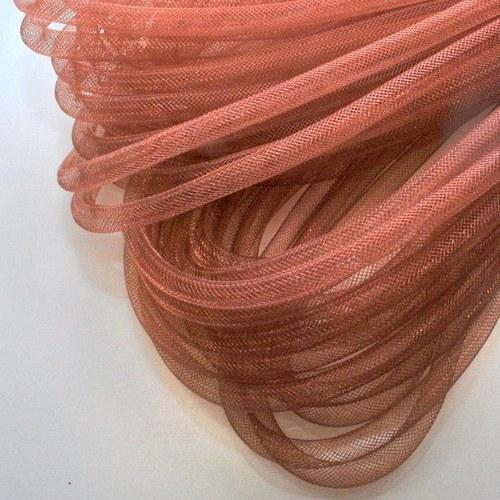 Pružná návleková síťka / 10 mm / Kokosová hnědá