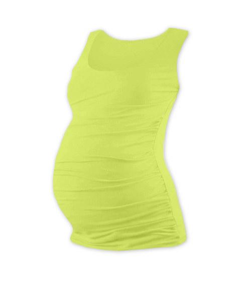 Těhotenské tričko bez rukávu světle zelené