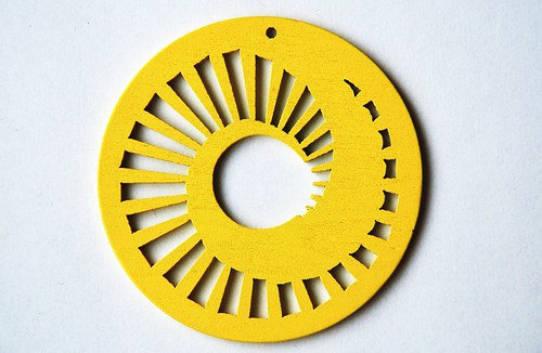 dřevěné kolečko 60 mm- žluté