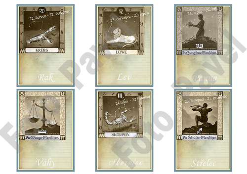 Vintage kartičky (journaling) - zvěrokruh 2
