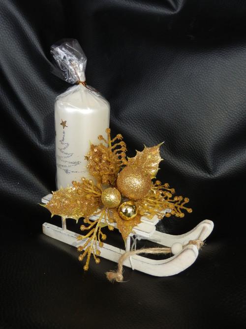 Vánoční svícen sáňky