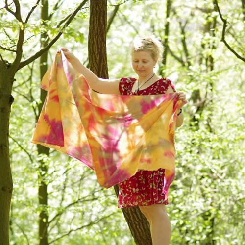 Víření - bavlněný šál