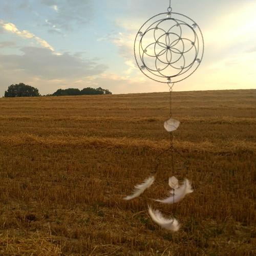Semeno života - mandala s křišťálem