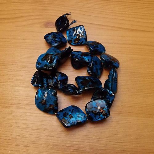 Perleťové nugety  - tmavě modré