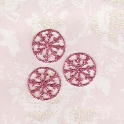 Vločky ze třpytivé pěnovky - světle růžové (10 ks)