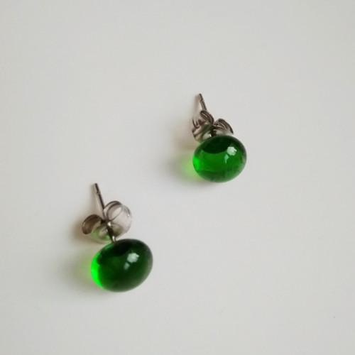 Náušnice Transparent green