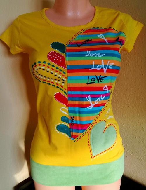 POZOR SLEVA: SRDCE - tričko dámské