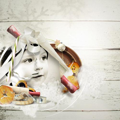 Scrap z vaší fotky (kit Cookies For Santa)