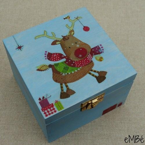 Krabička - Malá modrá, s rozverným sobem...