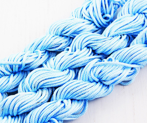 18m 57ft 19yrd Sky Blue Nylon Kabel Twisted Pleten