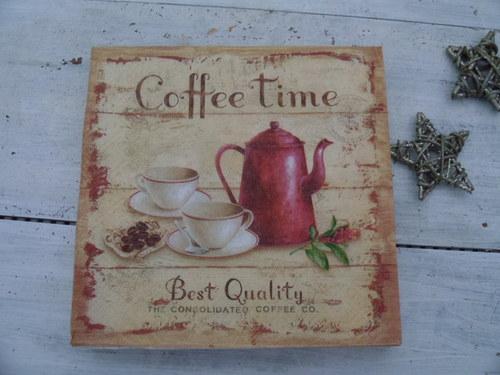 ...Coffee Time, vintage svíčka ...