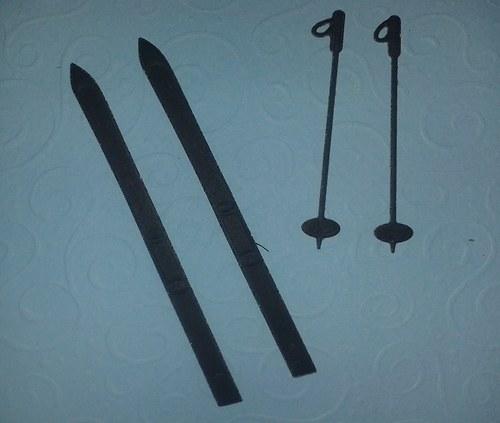 Lyže s hůlkami - černé
