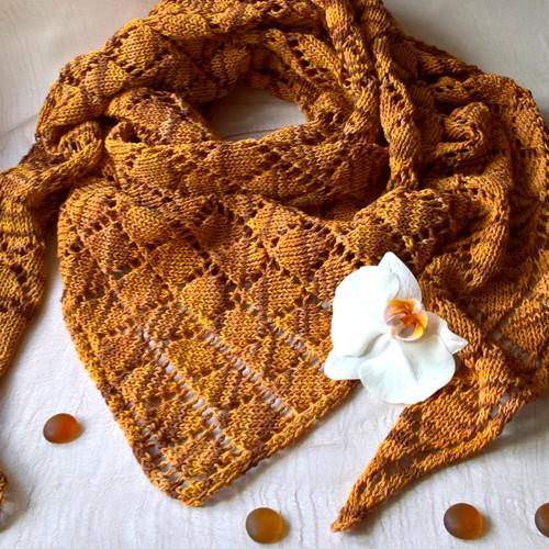 Skořice - šátek z buretového hedvábí