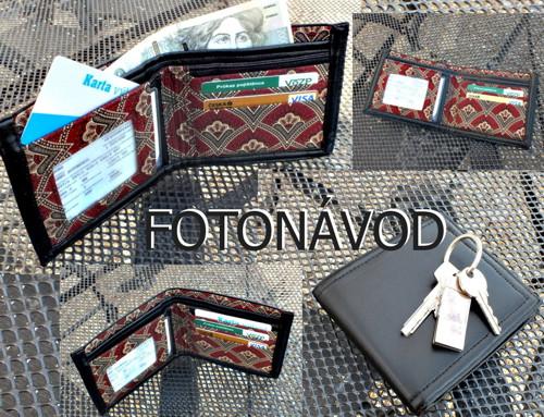 Pánská peněženka - fotonávod PDF -