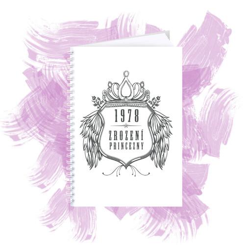 Zápisník s motivem - zrození princezny 2