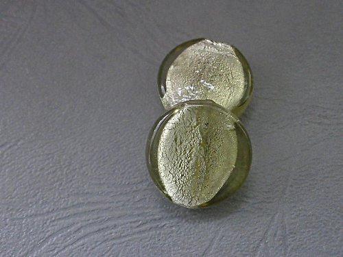 Olivový kruh se stříbrem - 2ks