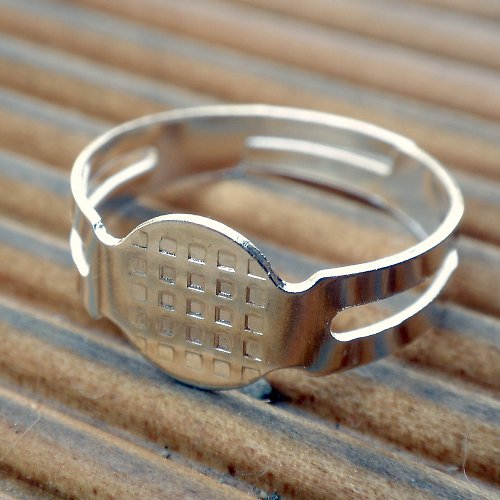SLEVA! Prsten postříbřený (2ks) K192