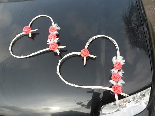 Svatební srdce malinové růže - jiná barva na přání