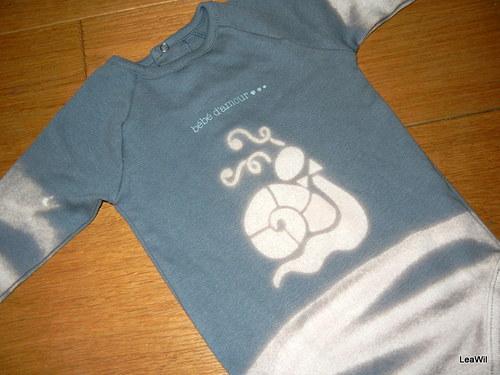 Bodýčko pro kojence 12 měsíců - šneček