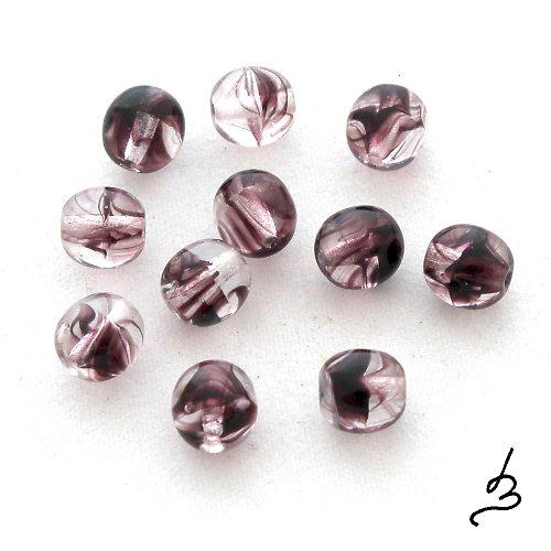 Kuličky fialovočiré 6 mm - 20 ks