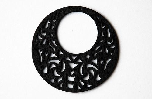 Dřevěné kolečko - černé