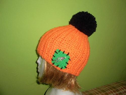 Kulich neonový oranžovo-černý