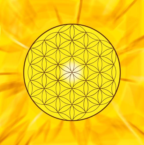 Květ života - originální grafika