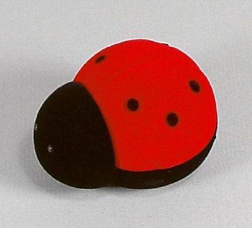 Sametová krabička na šperky - červená beruška