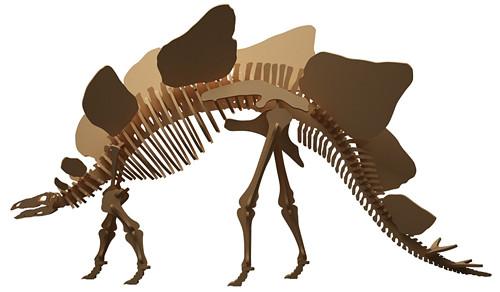 Dřevěná skládačka Stegosaurus