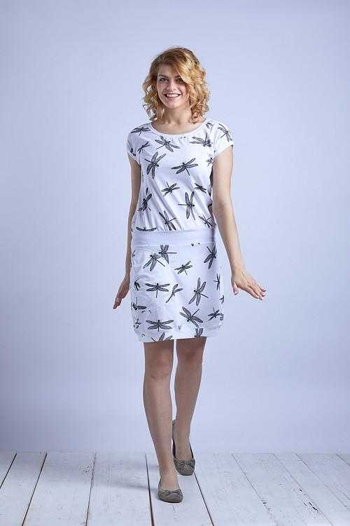 Skirt White/Black Dragonfly