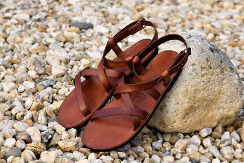 Kožené sandále Gallia