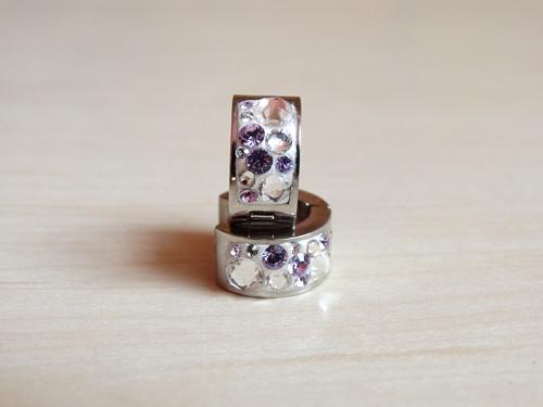 White- crystal- violet kreolky z chirurgické oceli