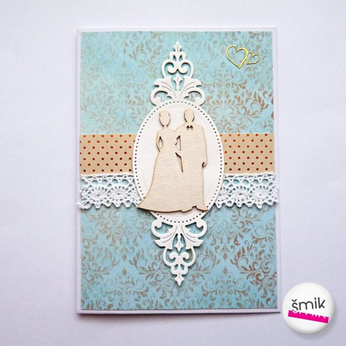 Svatební přání Light Ornament se snoubenci v rámu