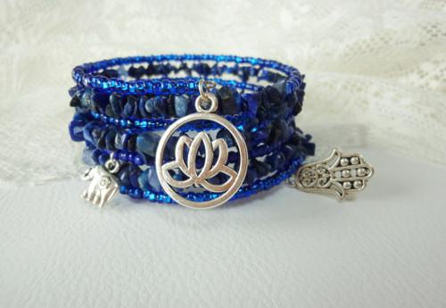 Energický náramek: Lapis lazuli - kámen přátelství