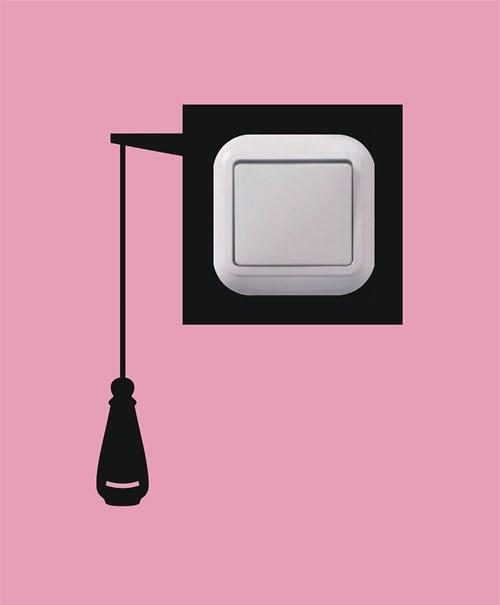 Samolepka k vypínači - Splachovač
