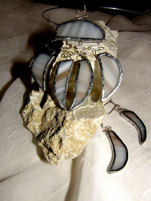 """Mořská inspirace, z cyklu \""""Svatební šperk\"""""""