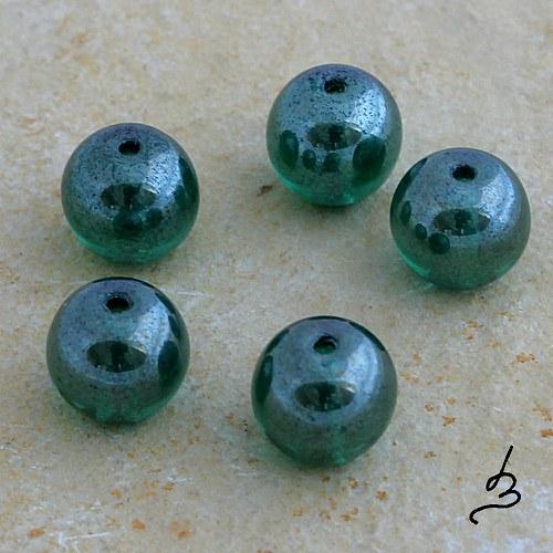 Kuličky zelené 9 mm - 10 ks