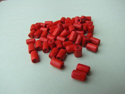 Dřevěné červené ,10 kusů