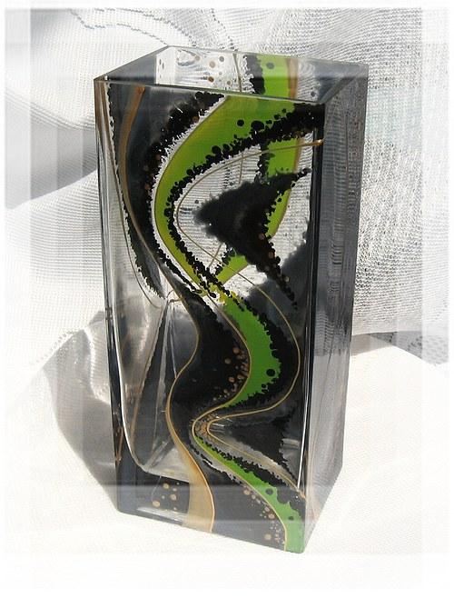váza šedo - zelená