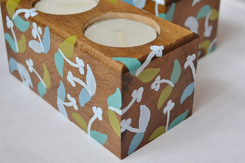 Dvojsvícen na čajové svíčky