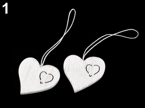 Dřevěné srdce (2ks)