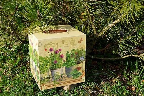 Krabička na kapesníky - bylinky