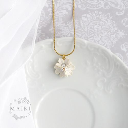 Mairi - svatební náhrdelník pozlacený ivory