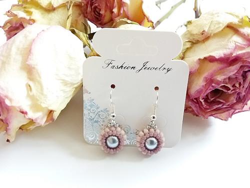Náušnice - obšívané perly
